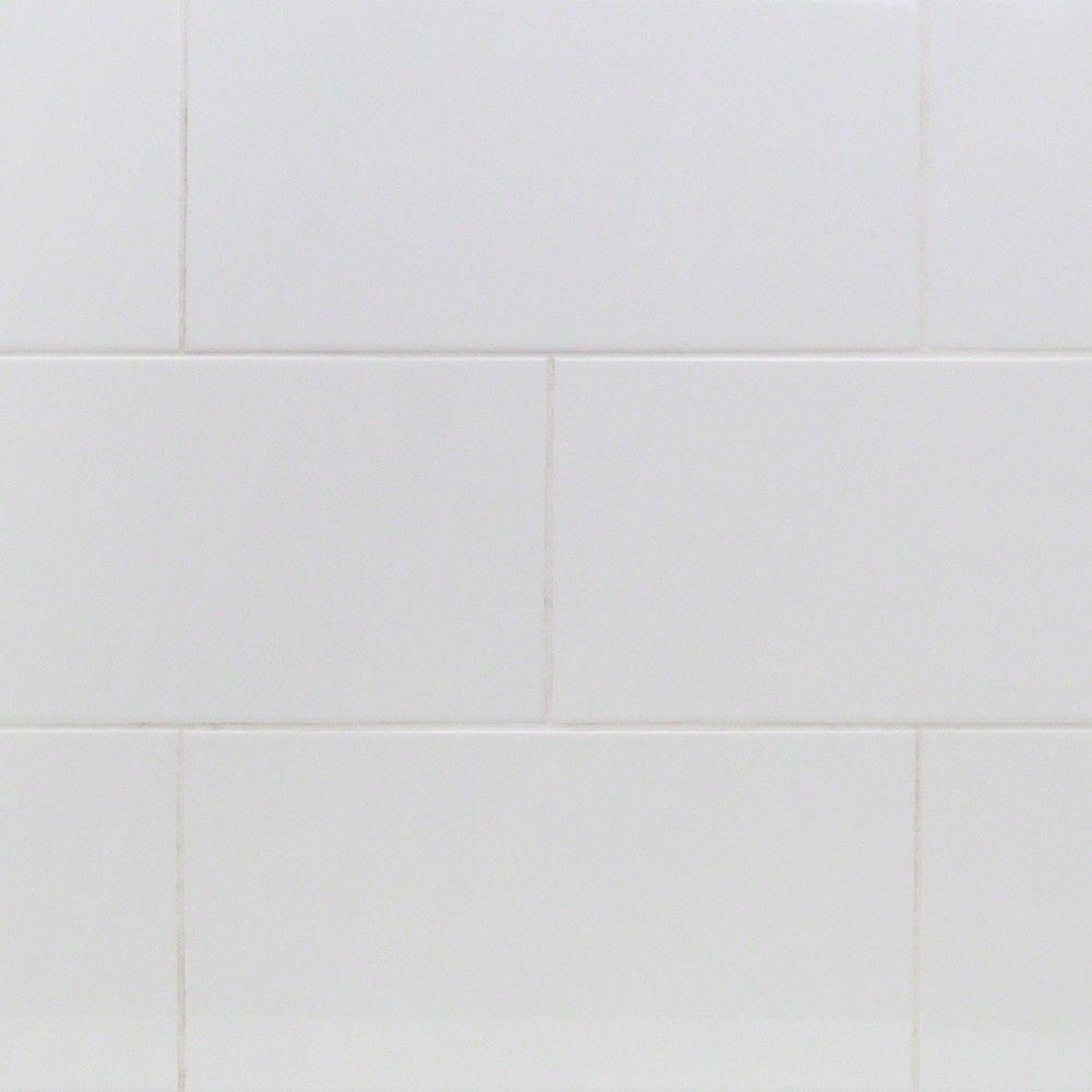 Basic White X Polished Ceramic Wall Tile Pinterest Wall Tiles - 8 x 16 white ceramic tile