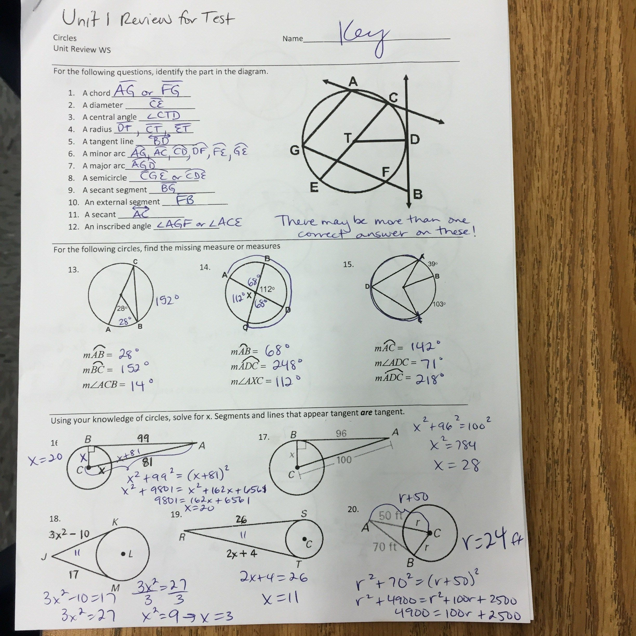 54 Algebra I Worksheets Pictures