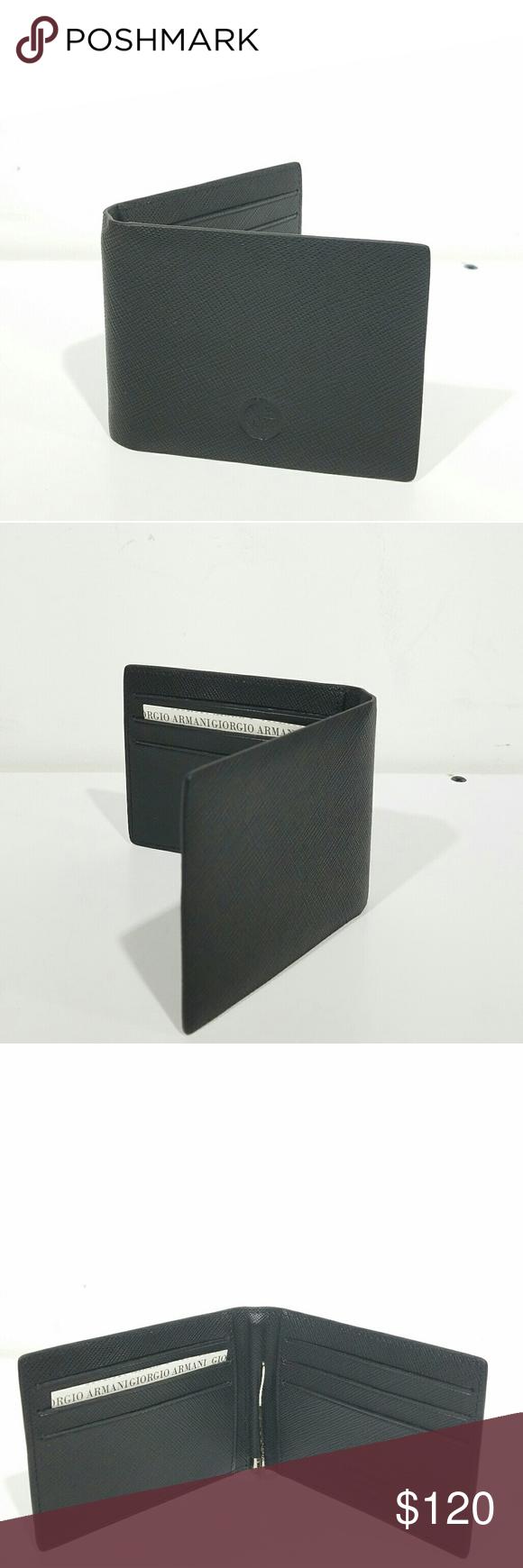 a721e33feb3 Giorgio Armani Black Wallet with Money Clip Brand new made in Italy Giorgio  Armani Bags Wallets