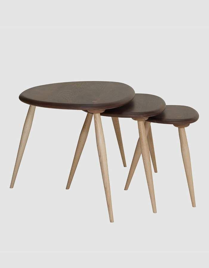 Originals Solid Walnut Beech Nesting Tables Nesting Tables Table Small Tables