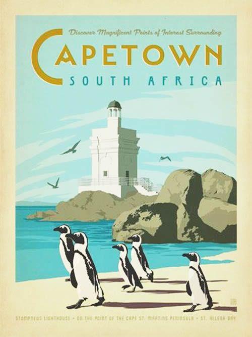 Vintage Travel Posters South Africa | Vintage Travel