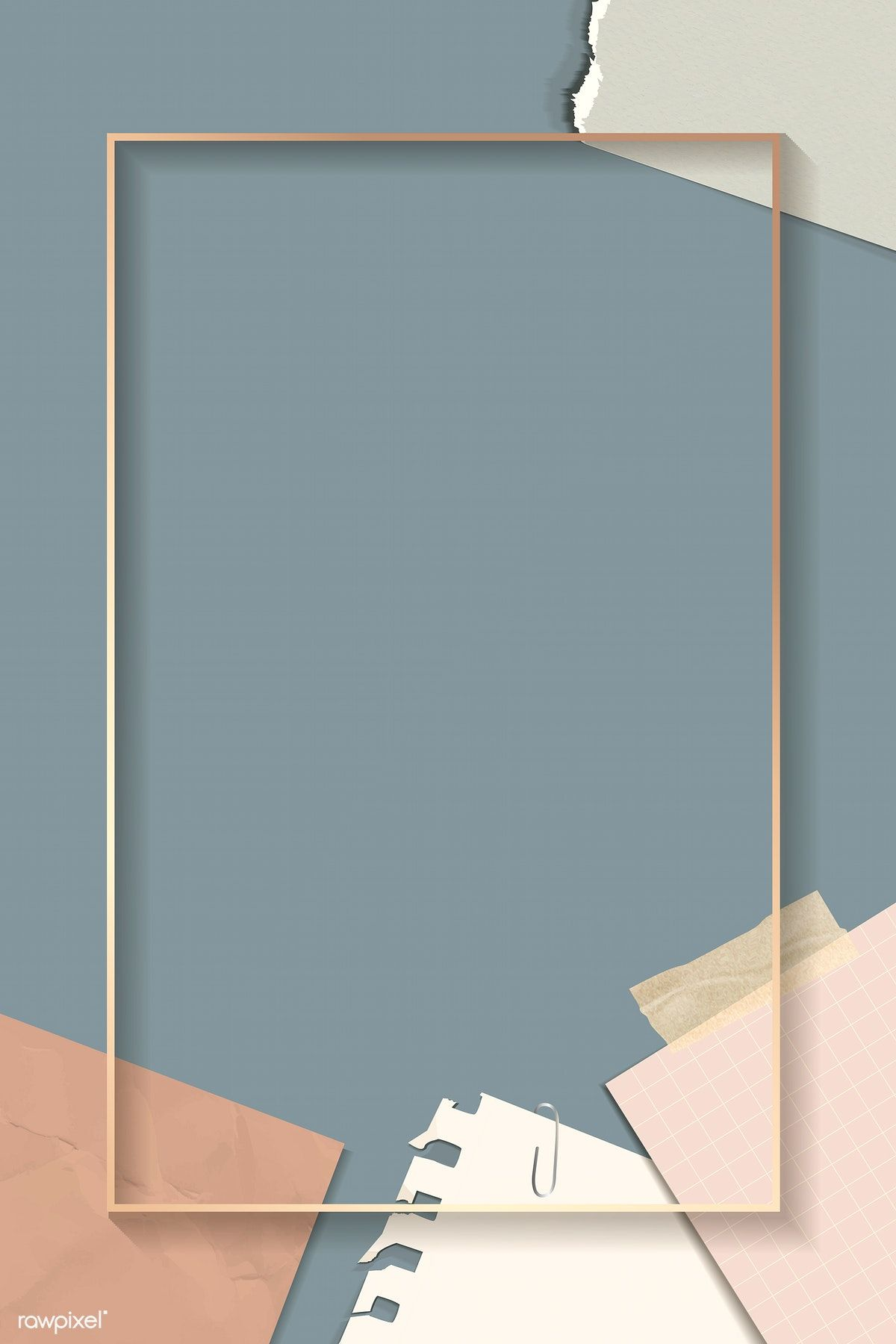 Download premium vector of Ripped notes rectangle frame ...