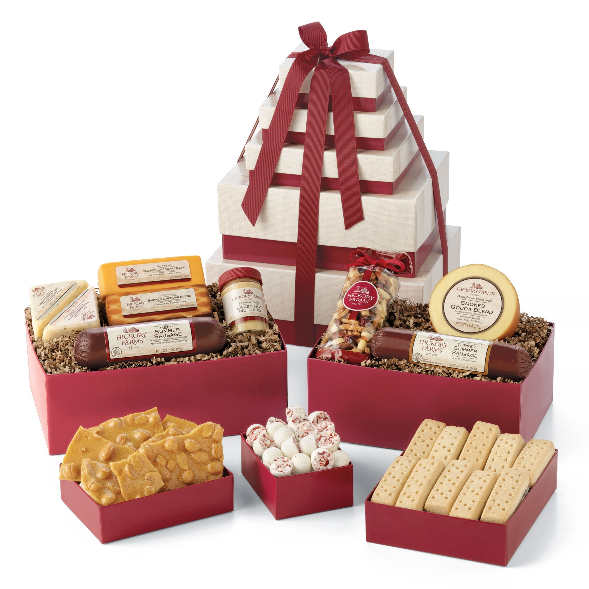 Grand Gift Snack Tower   Hickory Farms