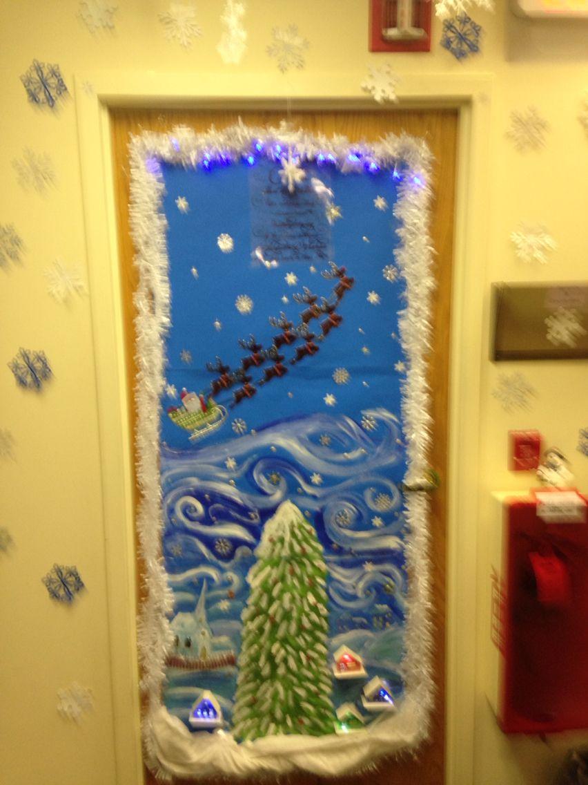 My Snowy twas the night before Christmas office door ...