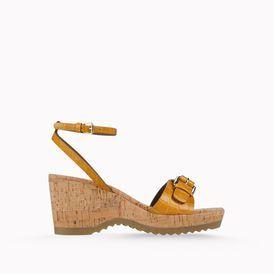 STELLA McCARTNEY, Wedges, Linda Moc Croc Sandals 70mm