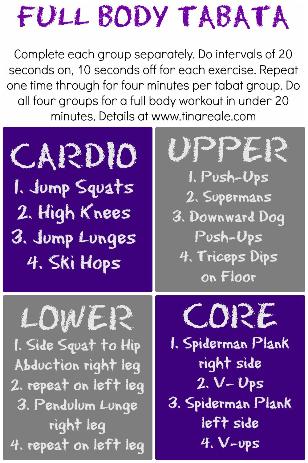Total Body Tabata Circuit From Tina Reale Of Best Fitness