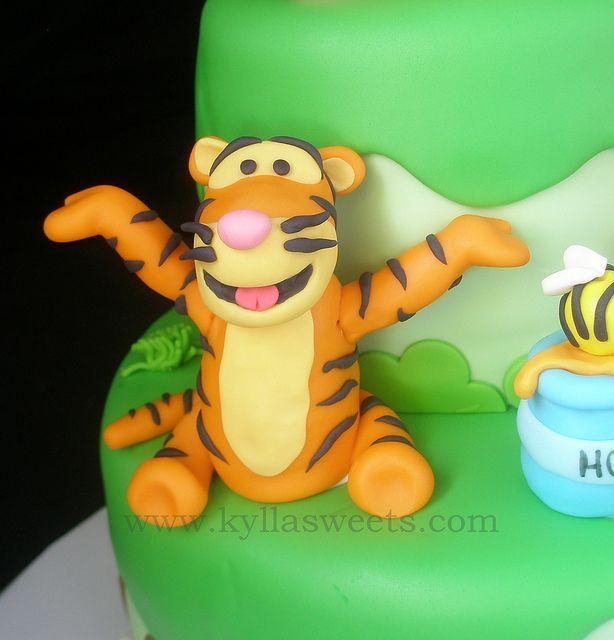 Tigger Cake Topper Topo De Bolo Tigro By Kyllasweets Via Flickr