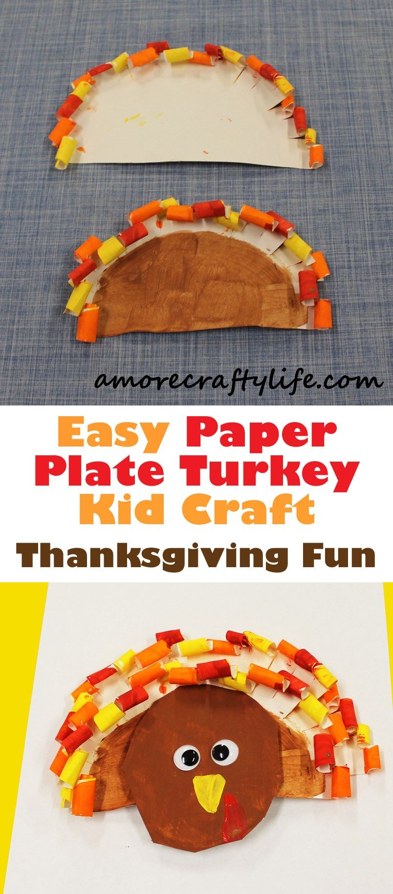 Fun Kids Crafts with Candy! Candy Cane Reindeer + Turkey