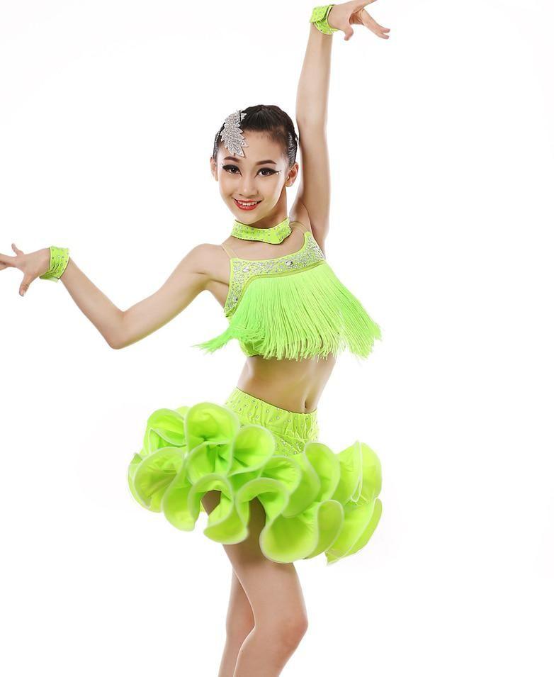 889a6abc8 Adult Girls Cha Cha Rumba Samba Ballroom Latin dance costume sexy sequins tassel  dress women latin