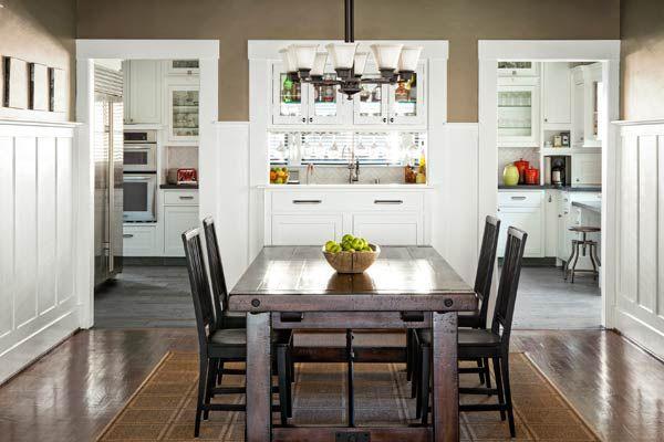 Updating A Cozy Craftsman Craftsman Dining Room Home Kitchens Kitchen Design Craftsman kitchen in dining room