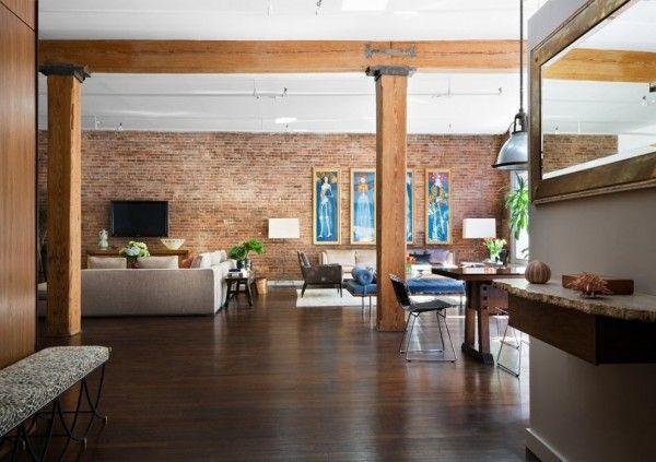 Brick Wall Studio Apartment Inspiration Modern Loft Apartment