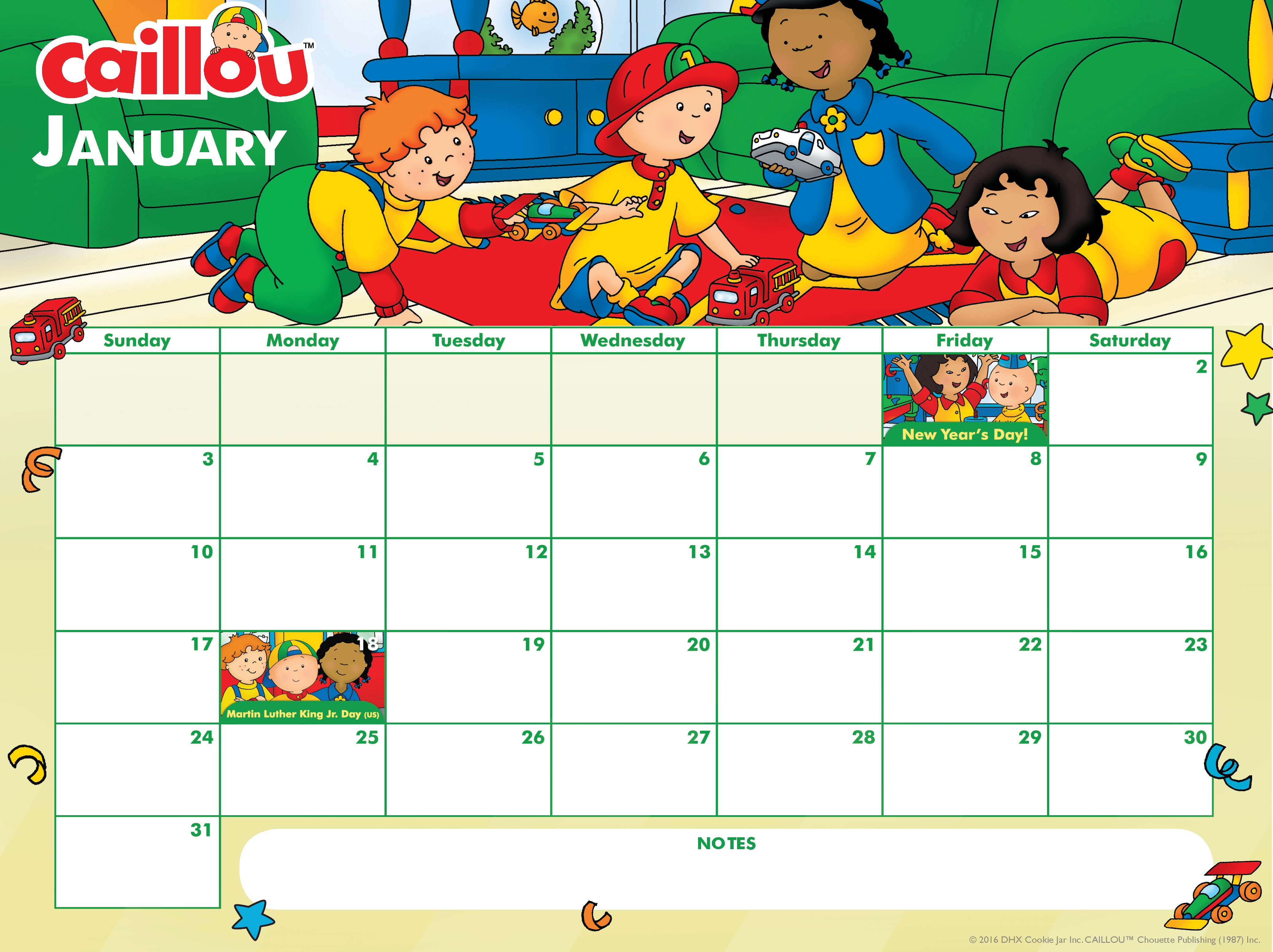 Ready For January Check Out This Adorable Printable Calendar