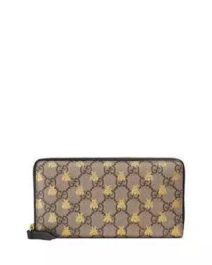 Gucci Linea A Gg Supreme Canvas Zip Around Wallet Zip Around Wallet Gucci Wallet Gucci Handbags