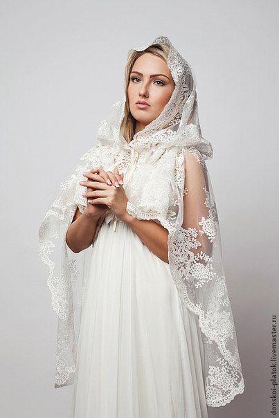 e10f01c61a3 Как сшить венчальный платок | для храма | Одежда, Фата и Платья