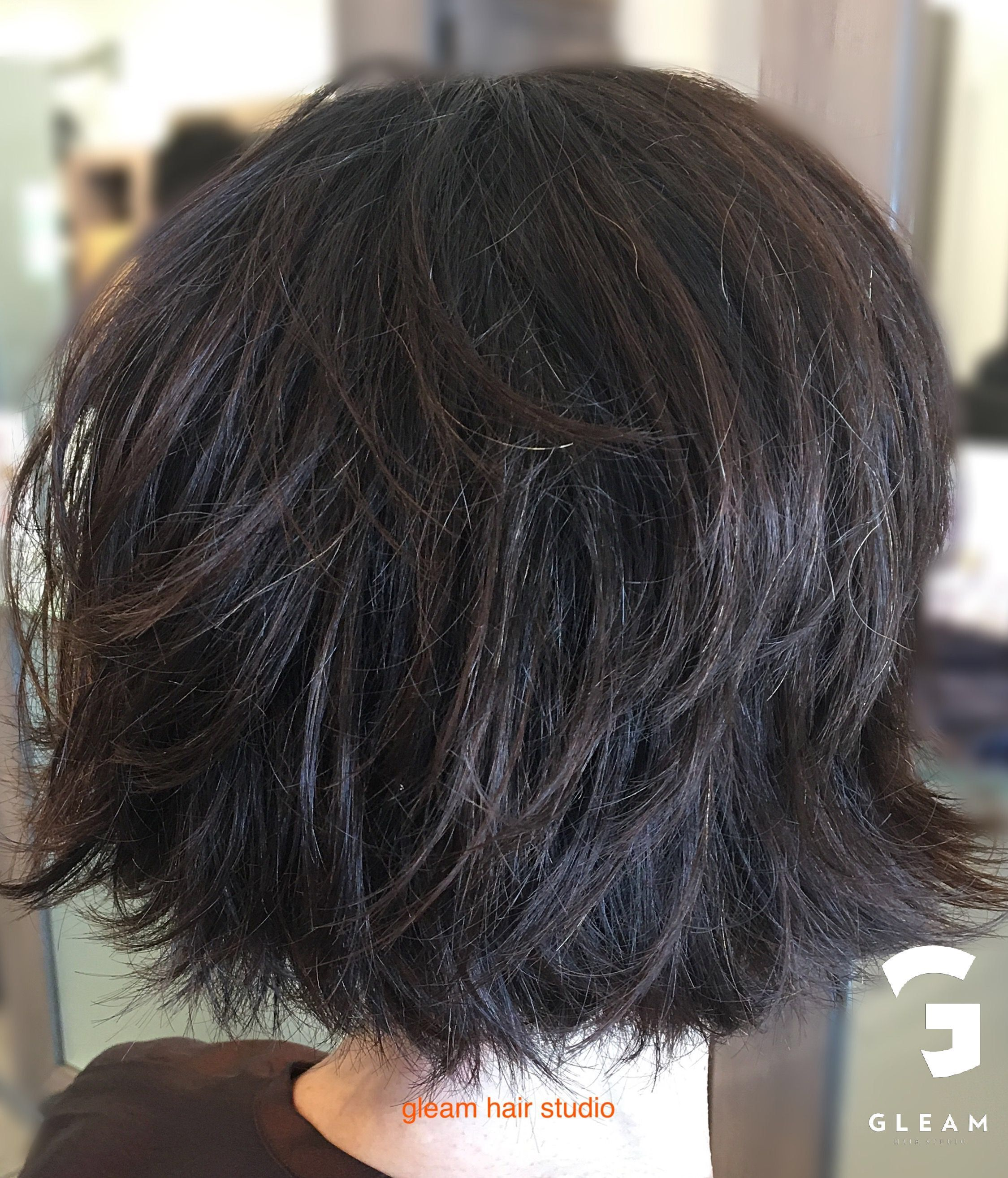 edgy wash and wear look! gleam hair studio miami | hair in