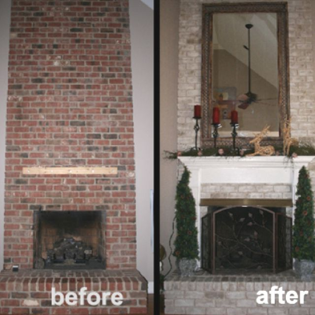 The 25+ Best Painting Brick Fireplaces Ideas On Pinterest