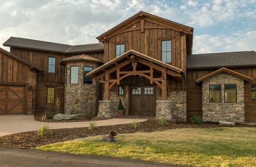 Ranchwood Rustic Wood Siding And Timbers House In The