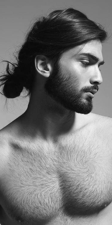 I love a man with a bun, facial hair and chest hair. Devran Taskesen