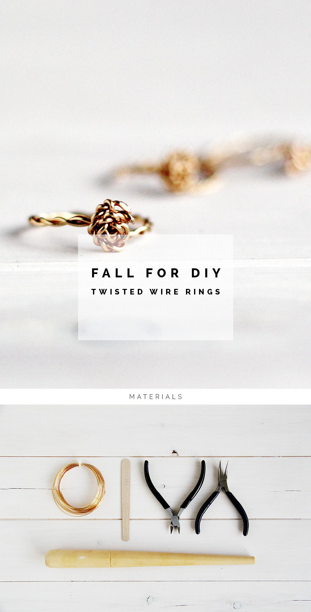DIY twist & knot wire rings | Pinterest | Wire rings tutorial, Ring ...
