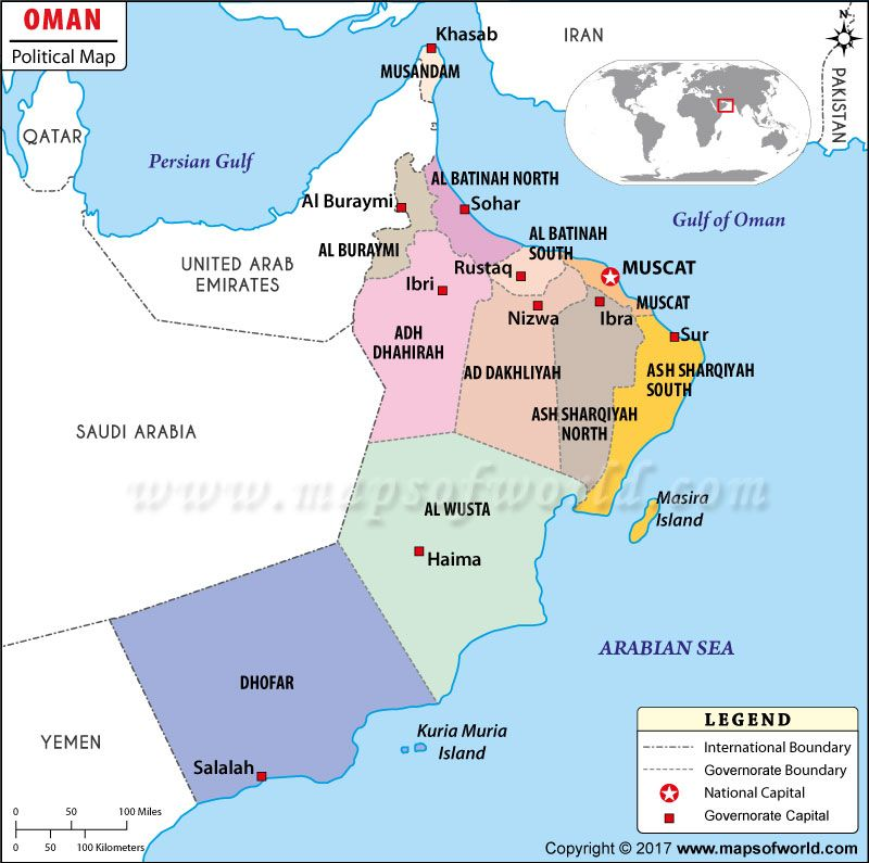 Political map of oman great maps pinterest explore and city political map of oman gumiabroncs Image collections