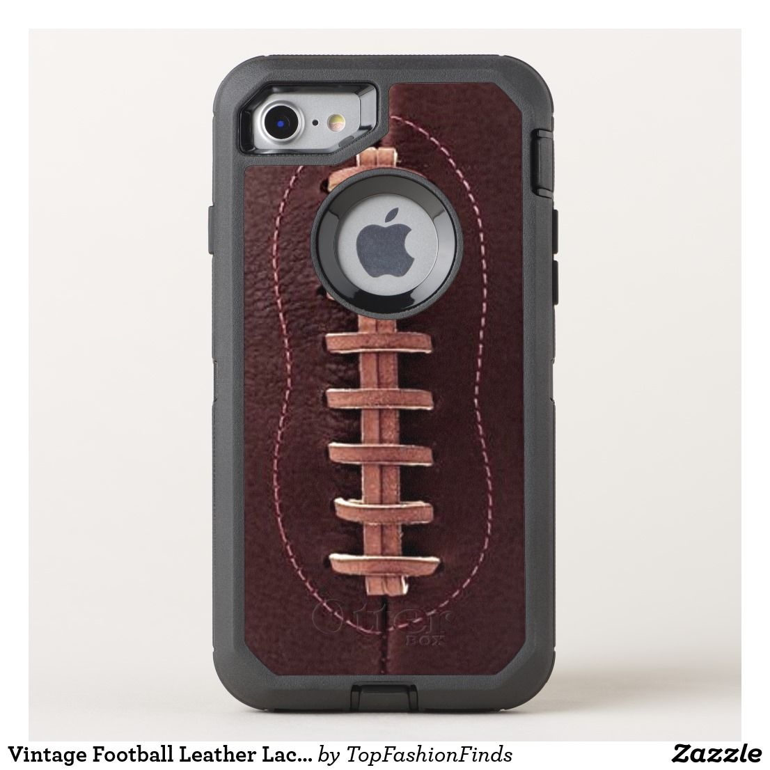 on sale efe67 998e0 Vintage Football Leather Laces Sports OtterBox iPhone Case | Zazzle ...