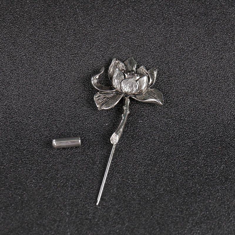 50d1547ff345f Mdiger Brand Silver/Gold Plated Metal Lotus Flower Brooch Collar ...