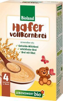 In Usa Holle Lebenswert Organic Oats Porridge From The 4th Month With Images Organic Baby Cereal Baby Food Pouch Recipes Baby Food Coupons
