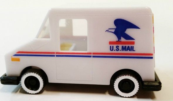 Collectable Postal Stamp Dispenser Mail Truck With Sponge