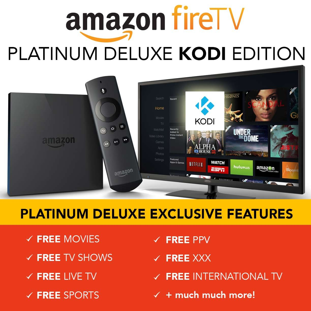 Install Kodi Or Xbmc To Your Amazon Firetv Fast And Easy For Free Cable No Hack Needed That S Right You Read That Correctly No Hack Needed Amazon F Tv Hacks