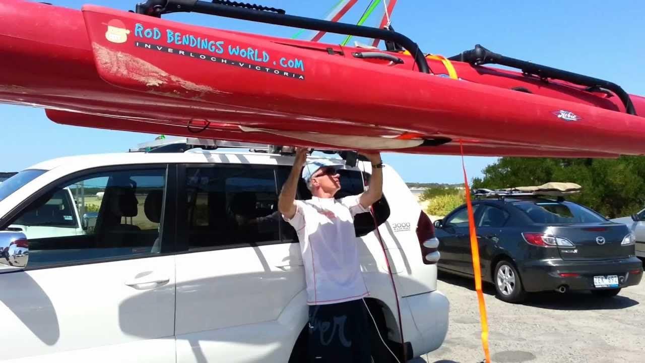 Kayak Hobie Tandem Island Rooftop Loader Loading System Hoist Lifter Part 3 Hobie Tandem Island Kayak Hoist Hobie Kayak