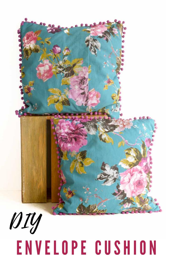 Easy Diy Envelope Cushion With Pom