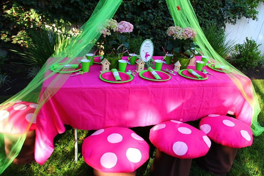 make a toadstool seat for a fairy party - So cute!!!!