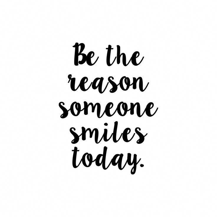 Be the reason someone smiles today  Vinyl Decal Sticker  V2 | Etsy
