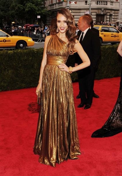 the goddess look never goes out of style. loving jessica alba lately. michael kors. met ball 2012.