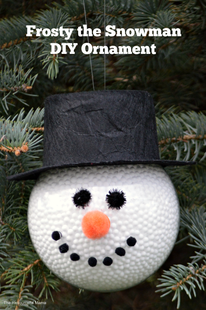 DIY Frosty the Snowman Christmas ornament Great