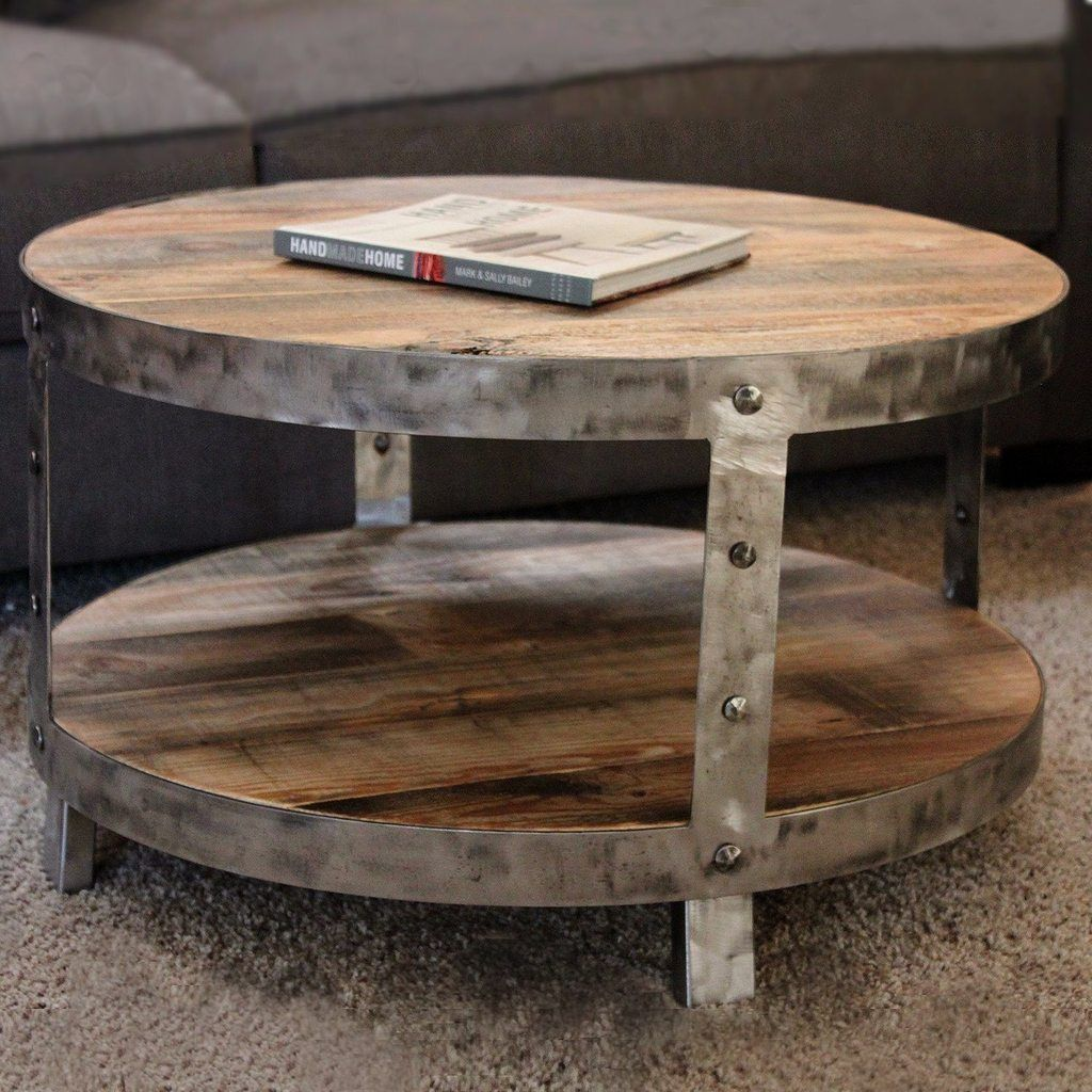 Round Coffee And Accent Table Industrial Modern Ideas Reclaimed Wood And Metal Round Tw Coffee Table Round Wood Coffee Table Reclaimed Wood Coffee Table Round [ 1024 x 1024 Pixel ]