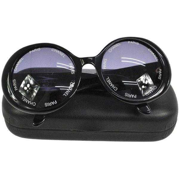 b133b6ef1b72 Eyeglasses · Pre-owned Ultra Rare Auth Chanel Cc Round Frame Vintage  Sunglasses... (