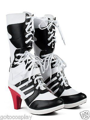 05c0aeab9ff228 Harley Quinn DC Suicide Squad Boots Heels Shoes Cosplay Movie Halloween  Custom