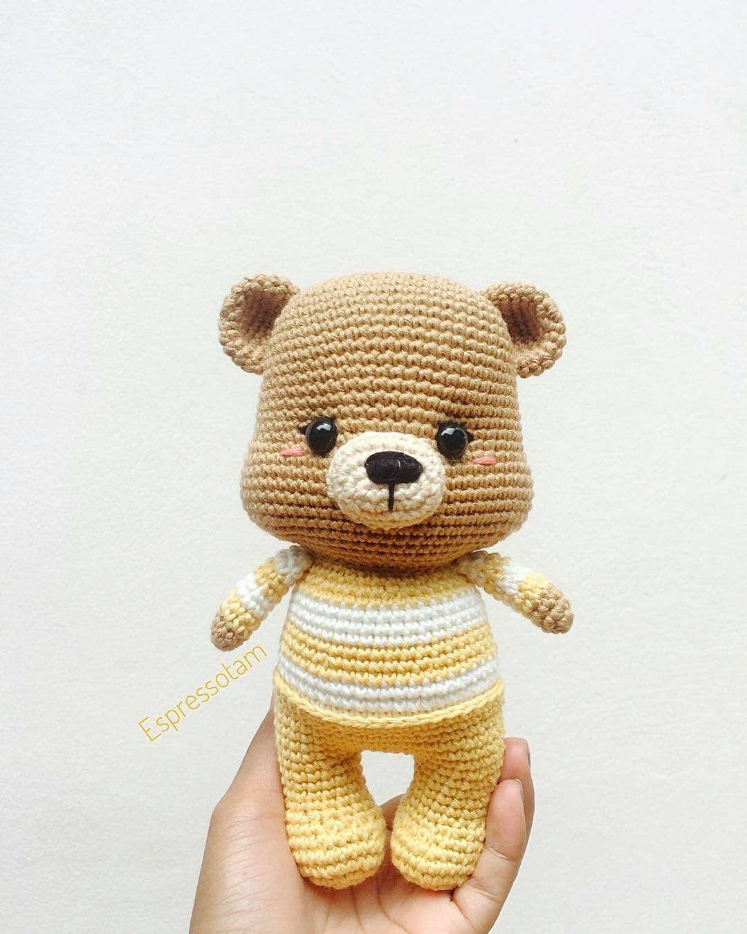 Regrann from @tamtam_ami - #bear #teddybear #amigurumi #amigurumitoy ...
