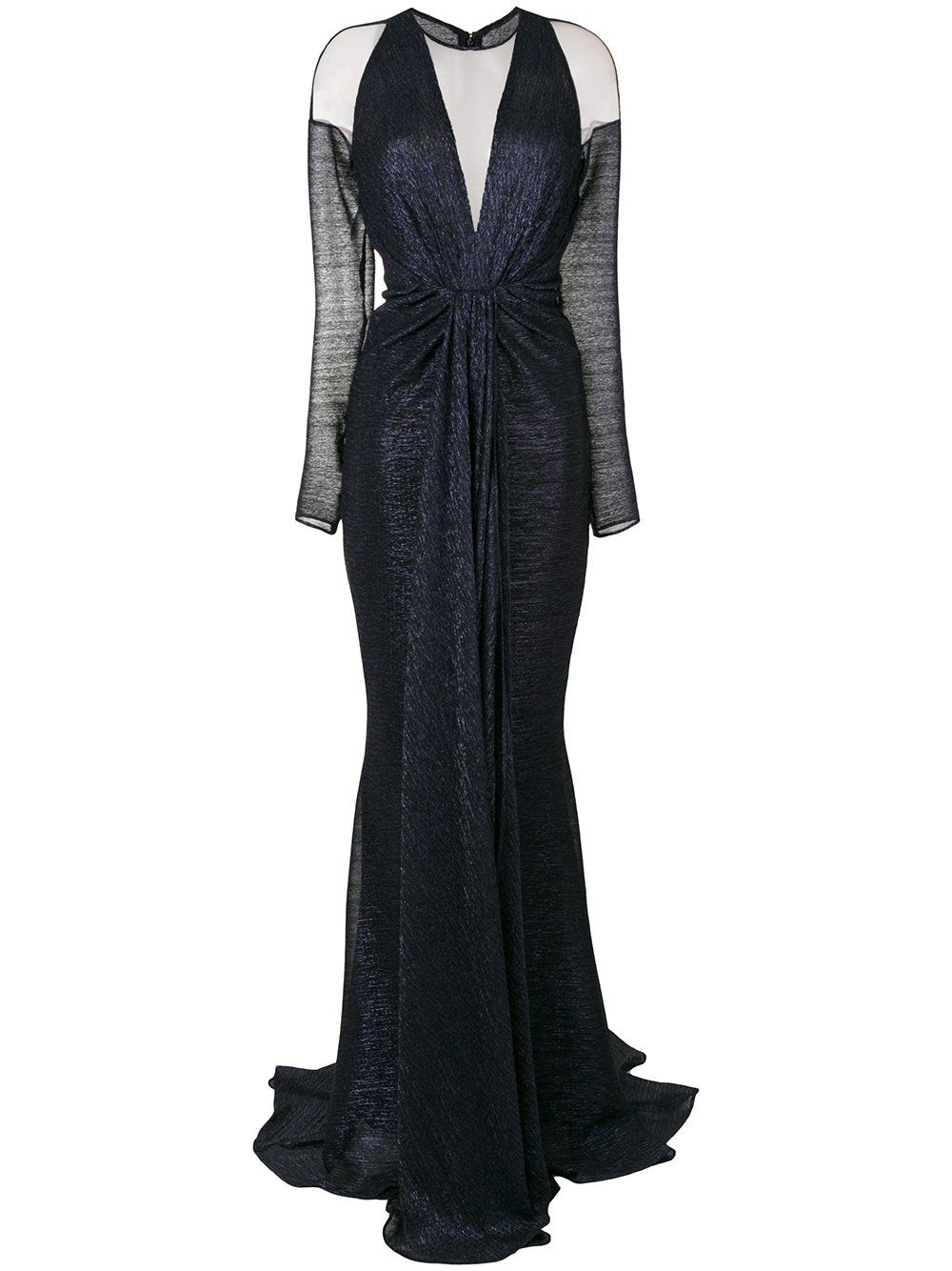 Talbot Runhof Nominee Fitted Gown Farfetch Long Sleeve Cocktail Dress Dresses Black Ball Gown [ 1334 x 1000 Pixel ]