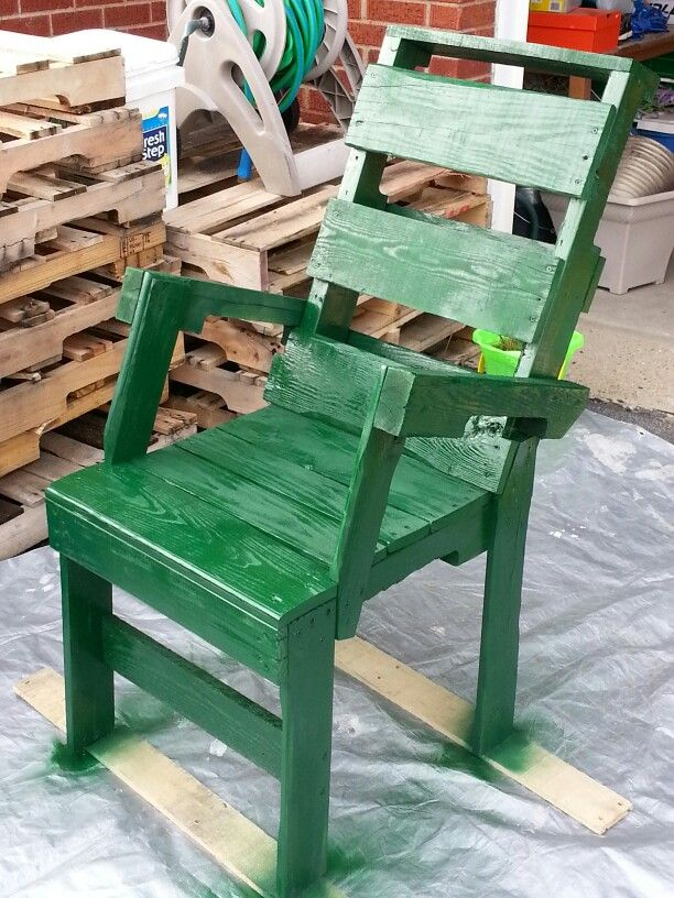 Pallet chair by pj mils