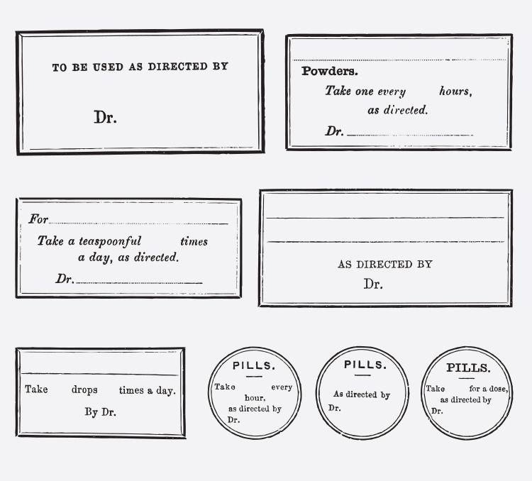 Doctor Prescription Label Tags Free Vintage Vector Printable
