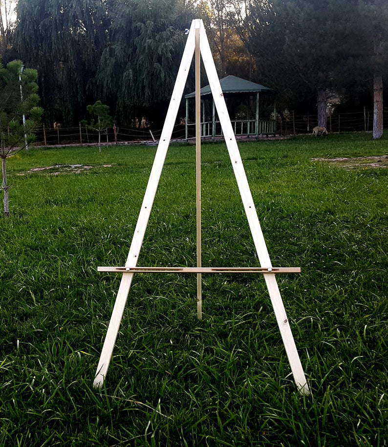 """Large 57"""" Wood Easel Stand For Wedding Sign Floor Easel"""