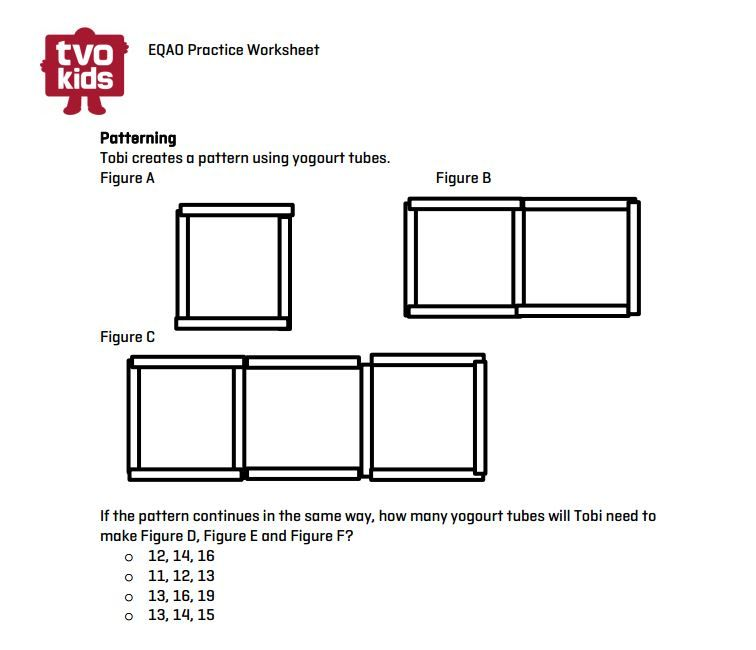 eqao grade 3 printable growing patterns math tvokids eqao eqao grade 3 pinterest. Black Bedroom Furniture Sets. Home Design Ideas