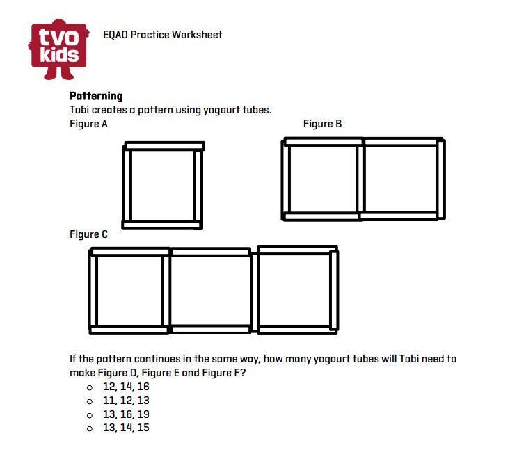 eqao grade 3 printable growing patterns math tvokids eqao eqao grade 3 3rd grade. Black Bedroom Furniture Sets. Home Design Ideas