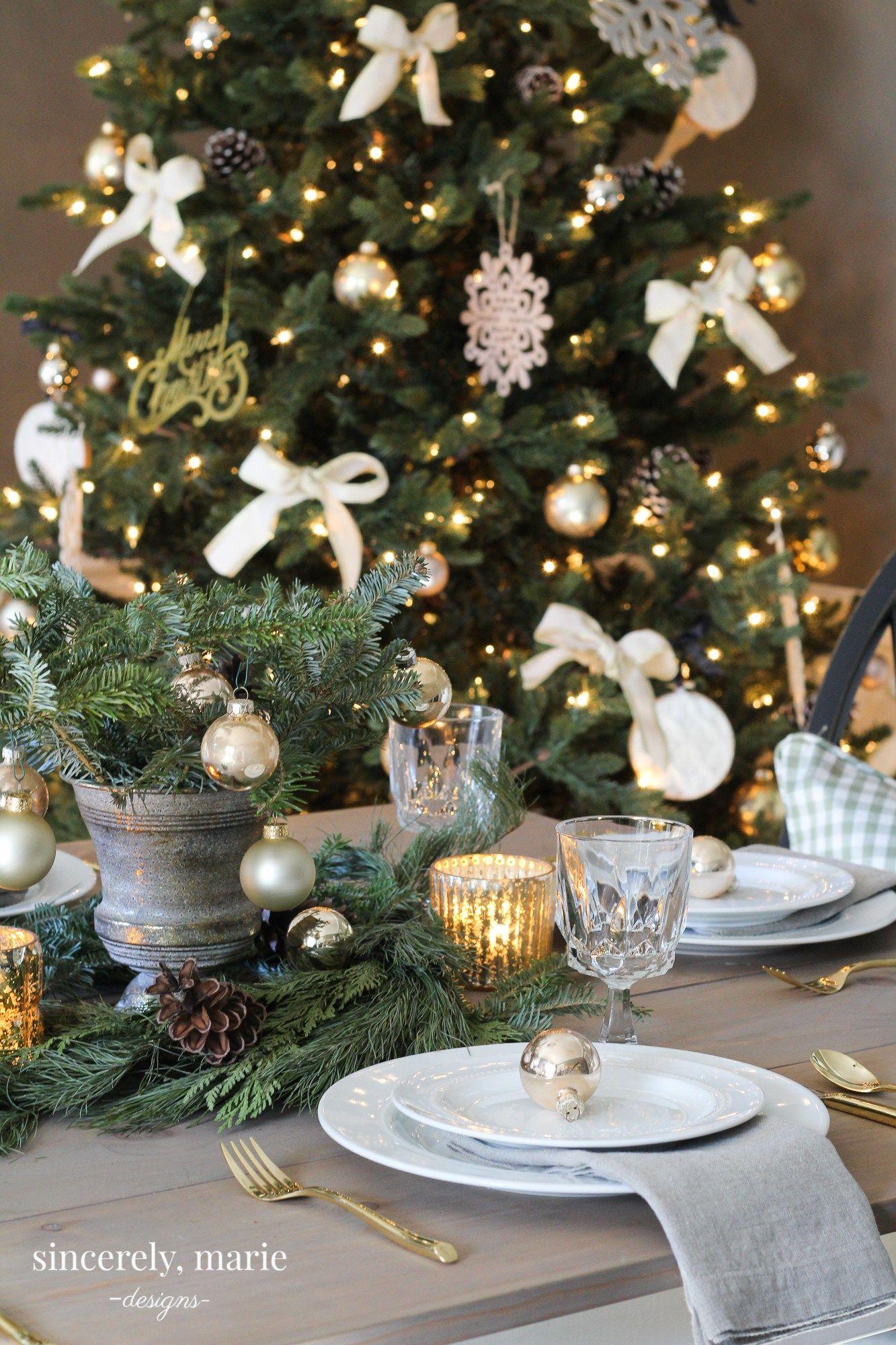 An elegant christmas tablescape rustic elegance and elegant christmas