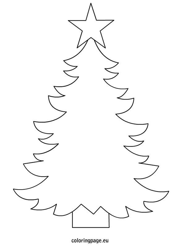 Christmas tree template to print use as a thread sketch template