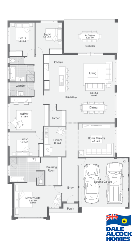 New home design perth affinity  dale alcock homes also plein pieds rh pinterest