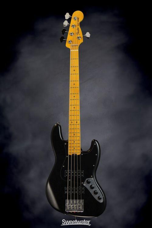 fender modern player jazz bass v satin black in 2019 bass guitars fender jazz bass fender. Black Bedroom Furniture Sets. Home Design Ideas