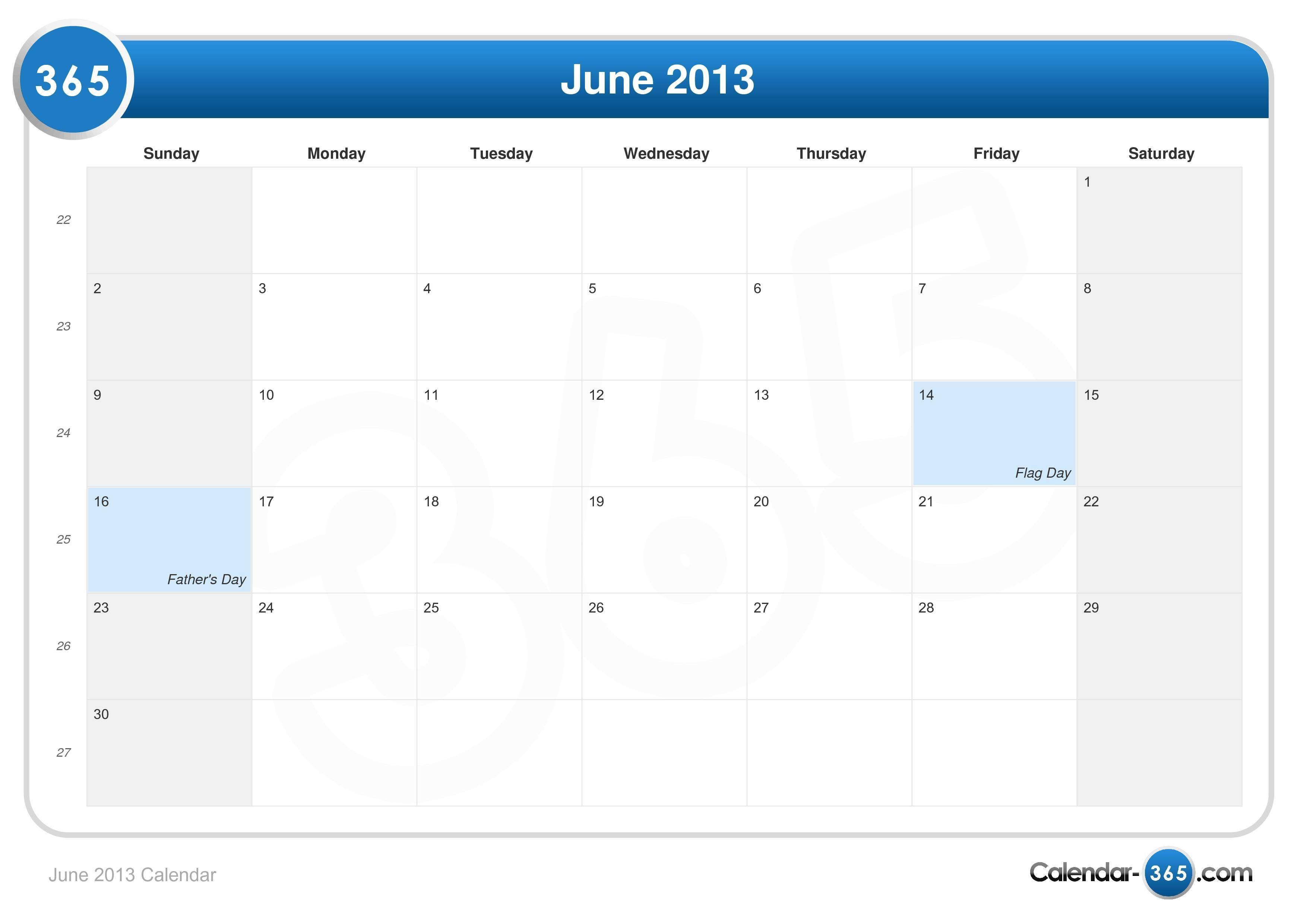Calendar June 2013 Calendar June 2019 Calendar 2019 Calendar